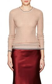 Stripe-Detailed Metallic Sweater by Giada Forte at Barneys