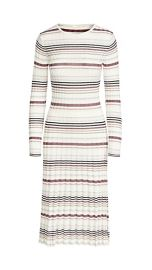 Stripe Long Sleeve Fitted Dress at Shopbop