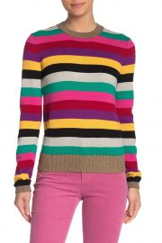 Stripe Metallic Trim Sweater at Nordstrom Rack