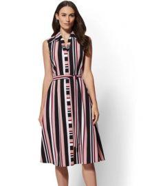 Stripe Midi Shirtdress - 7th Avenue  New York Company at NY&C