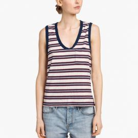 Stripe Muscle Tank by James Perse at James Perse