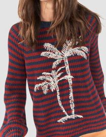 Stripe Palm Sweater by Faherty at Faherty Brand