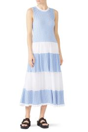 Stripe Panel Maxi Dress by RED Valentino at Rent The Runway