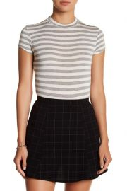 Stripe Short Sleeve Bodysuit by Velvet Torch at Nordstrom Rack