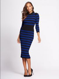 Stripe Sweater Dress - Gabrielle Union Collection  at NY&C