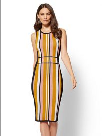 Stripe Sweater Sheath Dress - 7th Avenue by New York and Company at NY&C