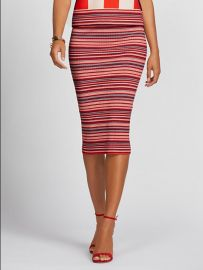 Stripe Sweater Skirt - Gabrielle Union Collection at NY&C