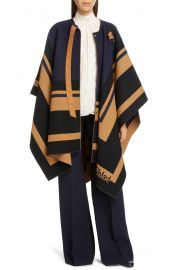 Stripe Trim Wool Cape at Nordstrom