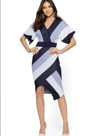 Stripe Wrap Sweater Dress by New York  Company at NY&C