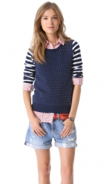 Stripe and dot sweater by Madewell at Shopbop