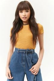 Stripe crew tee at Forever 21