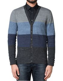 Stripe knit cardigan at Diesel