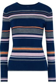 Stripe ribbed sweater at The Outnet