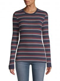 Striped Ribbed Knit Pullover at Saks Fifth Avenue
