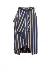 Striped Asymmetrical Skirt at Bcbg