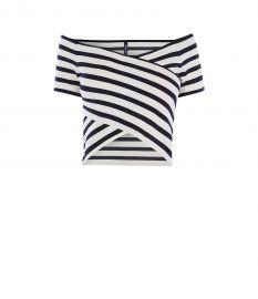 Striped Bardot Top at Karen Millen