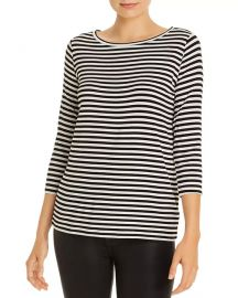 Striped Boat Neck Tee at Bloomingdales