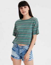 Striped Boxy Tee by American Eagle at American Eagle