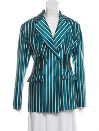 Striped Button-Up Blazer at The Real Real
