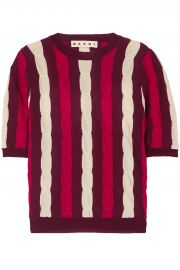 Striped Cable-Knit Wool Top by Marni at The Outnet