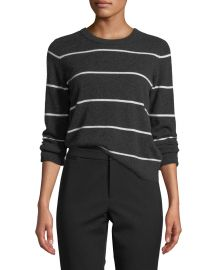 Striped Cashmere Pullover Sweater at Neiman Marcus