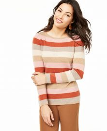 Striped Cashmere Sweater by Charter Club at Macys