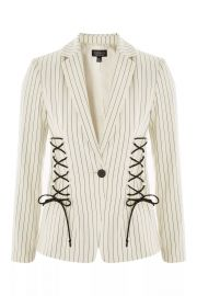 Striped Corset Detail Blazer at Topshop