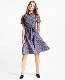 Striped Cotton Poplin Shirt Dress at Brooks Brothers