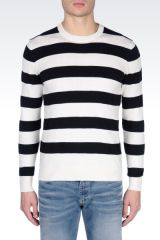 Striped Crewneck Sweater at Armani