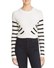 Striped Crop Sweater at Bloomingdales