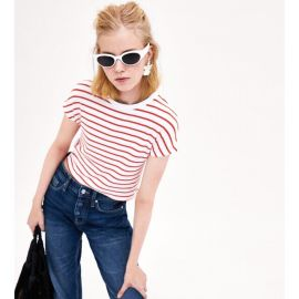 Striped Cropped Tee by Zara at Zara