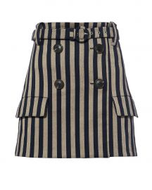Striped Double Breasted Skirt at Intermix