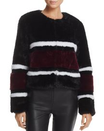 Striped Faux Fur Jacket by Sunset & Spring at Bloomingdales