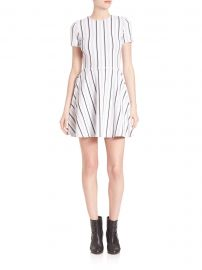 Striped Fit-&-Flare Dress at Saks Off Fifth