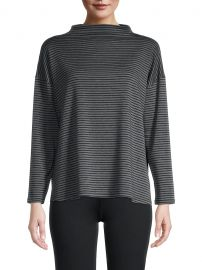 Striped Funnel-Neck Boxy Top at Saks Fifth Avenue