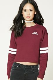 Striped Graphic Sweatshirt   Forever 21 - 2000230971 at Forever 21