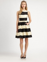 Striped Kate Spade dress at Saks at Saks Fifth Avenue