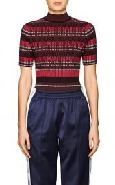 Striped Knit Mock Turtleneck Sweater at Barneys