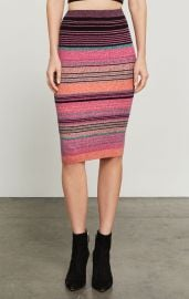 Striped Knit Pencil Skirt at BCBGMAXAZRIA