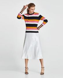 Striped Metallic Thread Sweater by Zara at Zara