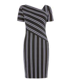 Striped Mini Dress at Karen Millen