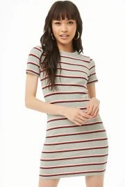Striped Mini Dress by Forever 21 at Forever 21