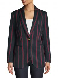 Striped Peak Lapel Blazer at Lord & Taylor