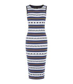 Striped Rib Dress at Karen Millen