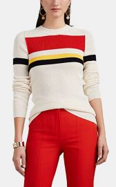 Striped Rib-Knit Cotton-Blend Top at Barneys