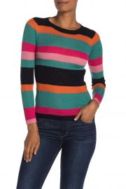 Striped Rib Knit Sweater by Cotton Emporium at Nordstrom Rack