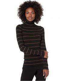 Striped Rib Turtleneck Sweater by Vince at Zappos