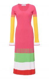 Striped Ribbed-Knit Midi Dress by Prabal Gurung at Moda Operandi