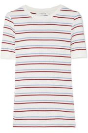 Striped Ribbed Stretch-Jersey Top by Frame at Net A Porter