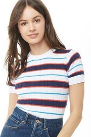 Striped Ribbed Top by Forever 21 at Forever 21